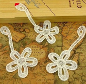 FD1729 Lace Flora Flower Embroidery DIY Sewing Craft Collar Patch Appliques x1pc