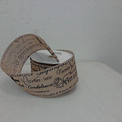 Sympathy Ribbon 6.4cm x 10 yard roll of ribbon black and tan in colour