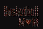 Basketball Mom Rhinestone Iron on Transfer