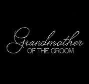 Grandmother of the Groom Rhinestone Iron on Transfer