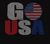 Go USA Rhinestone Iron on Transfer