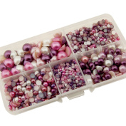 Summer-Ray.com 3mm to 10mm Lavender, Purple, Violet & White Flat Back Pearl Collection In Storage Box