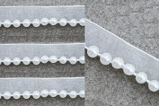 10yards 1.7cm Craft White Braided Fake Pearls Trim Decorated Lace Ribbon Trim for Wedding Dress Clothes Accessories Trim T328
