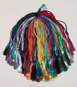 100 Assorted Colours Rayon Bookmark Tassels