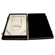 Black Bead Design Board Case Box w Plain Tray to Hold Jewellery tools and Supplies
