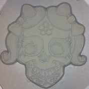 Flexible Resin or Chocolate Mould Girly Sugar Skull