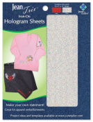 Jean Trix Iron on Hologram Sheets, Red/Silver