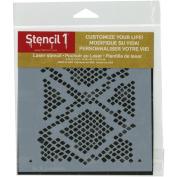 Stencil1 15cm x 15cm Stencil-Snakeskin