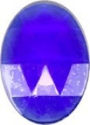 Stained Glass Jewels - 40mm X 30mm Dark Blue Faceted Jewel