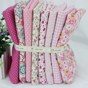 Cotton Fabric for Patchwork and Crafts Warm Pink Series Small Piece 24x24cm Pink