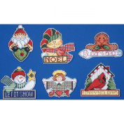 Tobin Signs of Christmas Ornaments Counted Cross Stitch Kit, 8.9cm by 10cm , 14 Count