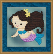 Sweet Little Mermaid #5 Cross Stitch Pattern