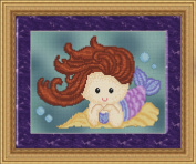 Sweet Little Mermaid #2 Cross Stitch Pattern