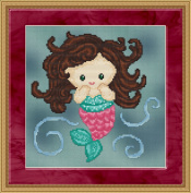 Sweet Little Mermaid #3 Cross Stitch Pattern