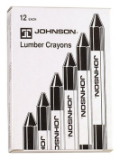 Johnson Level & Tool 3512-K Black Lumber Crayons, 12-Pack