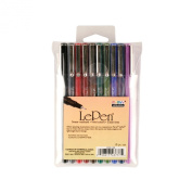 Uchida of America 4300-10B 10-Piece Le Pen Drawing Pen Set, 0.3 Point Size