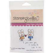 Stamping Bella Cling Rubber Stamp 17cm x 11cm -I Love You Hoppy Poppy