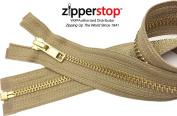 ZipperStop Distributor YKK® - 46cm Jacket Zipper, YKK® #5 Metal Brass Separating - Medium Weight Made in USA