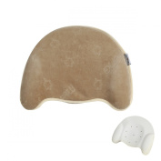 MITTAGONG Infant Anti Roll Headrest Support Memory Foam Baby Pillow,Coffee