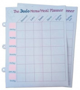 Dodo Pad Weekly Wipe-Clean Menu / Meal Planner