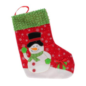 Christmas Snowman Xmas Party Gift Candy Bag Tree Hanging Stocking Sock Bag