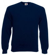 Fruit of the Loom Men's Raglan Crew Neck Long Sleeve Sweatshirt