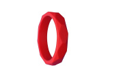 MyBoo Autism/Sensory/Teething Chewable Geometric Bracelet - Red