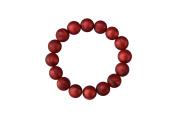 MyBoo Autism/Sensory/Teething Chewable Beads Bracelet - Metallic Red