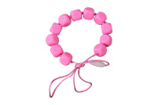 MyBoo Autism/Sensory/Teething Chewable Funky Square Beaded Necklace - Pink