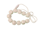 MyBoo Autism/Sensory/Teething Chewable Funky Square Beaded Necklace - White