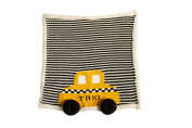 Estella gift-taxi Hand Knit Taxi Organic Cotton Newborn Baby Gift Set