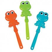 Frogs with Google Eyes Shaped Clappers ~24 pack