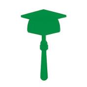 Green Graduation Mortar Board Clapper ~24 pack