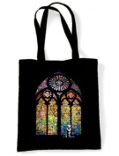 Banksy Stained Glass Tote / Shoulder Bag