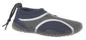 Kids Junior Boys New Navy And Grey Translucent TPR Sole Comfort Rear Toggle Aqua Shoes