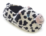 SlumberzzZ Girls 3D Cow Face And Ears Novelty Fluffy Slip On Slippers FT0667
