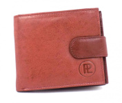 MENS SOFT LEATHER CREDIT CARD WALLET WITH ZIP COIN POCKET & ID WINDOW