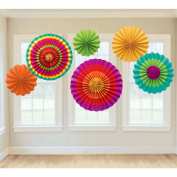 Amscan Fiesta Paper Fan Decorations