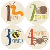 Monthly Baby Stickers, Critters, Baby Boy Stickers
