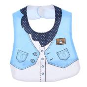 Smile YKK Unisex Baby Toddler Formal Dress Waterproof Terry Bibs Blue