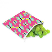 Itzy Ritzy Pink Snack Happens Reusable Snack Bag Social Butterfly