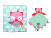 Ollie Owl Snuggle Blanket and Security Toy with Rattle Head
