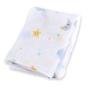 lulujo Muslin Cotton Swaddling Blanket - Dreamland