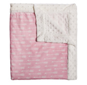 Blossoms and Buds Little Arrow Pink Minky Dot Blanket