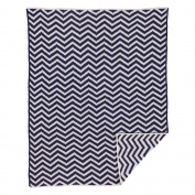 Chevron Chenille Blanket - Navy - Living Textiles Baby