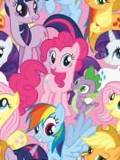 My Little Pony ~ Fleece Baby Blanket ~ Purple Satin Edge