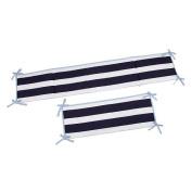 Sadie & Scout - Navy Multi Stripe 4pc Crib Bumper