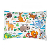 Toddler Pillow Case 100% Cotton Cover Unique Christmas Gift Set with Bonus Ebook Bedtime StoryTop Quality Aussie Friends Cute Animal Theme for Sleep or Travel