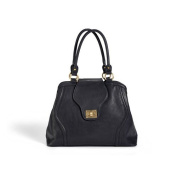Newlie Gail Satchel Nappy Bag in Black