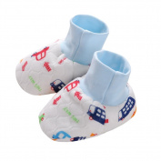 Non Skid Newborn Unisex Cotton Socks Set of 5 Pairs,0-6 Months